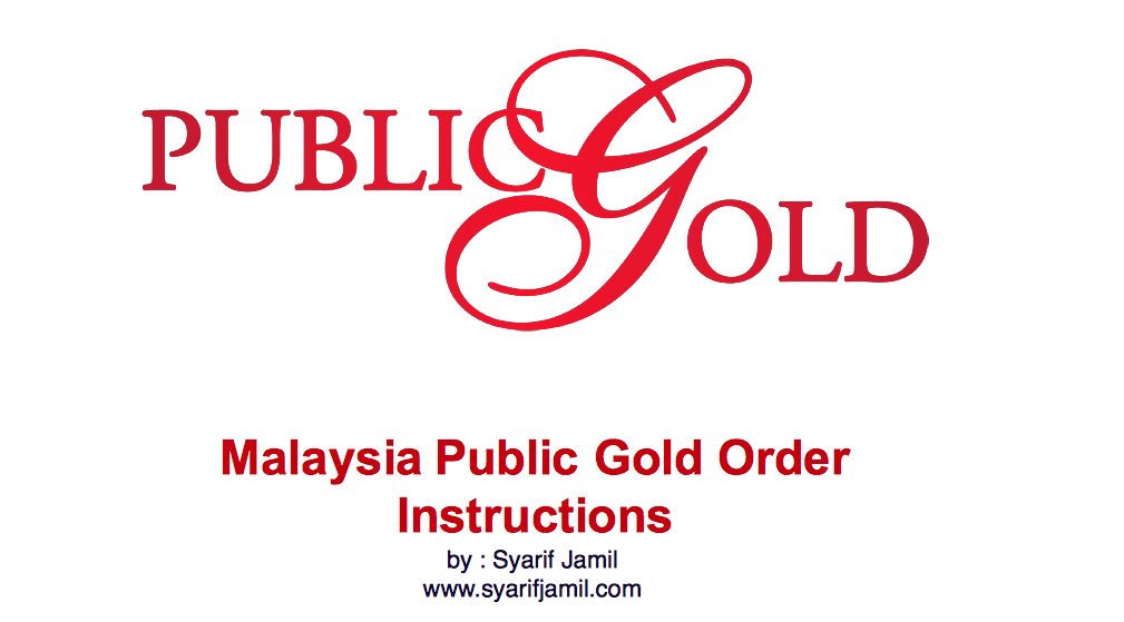 Nak beli emas Public gold secara online? ikuti step ini.