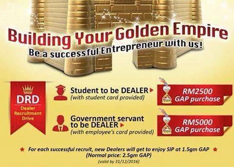 """7-Kelebihan sebagai """"Authorised Public Gold Dealer"""""""