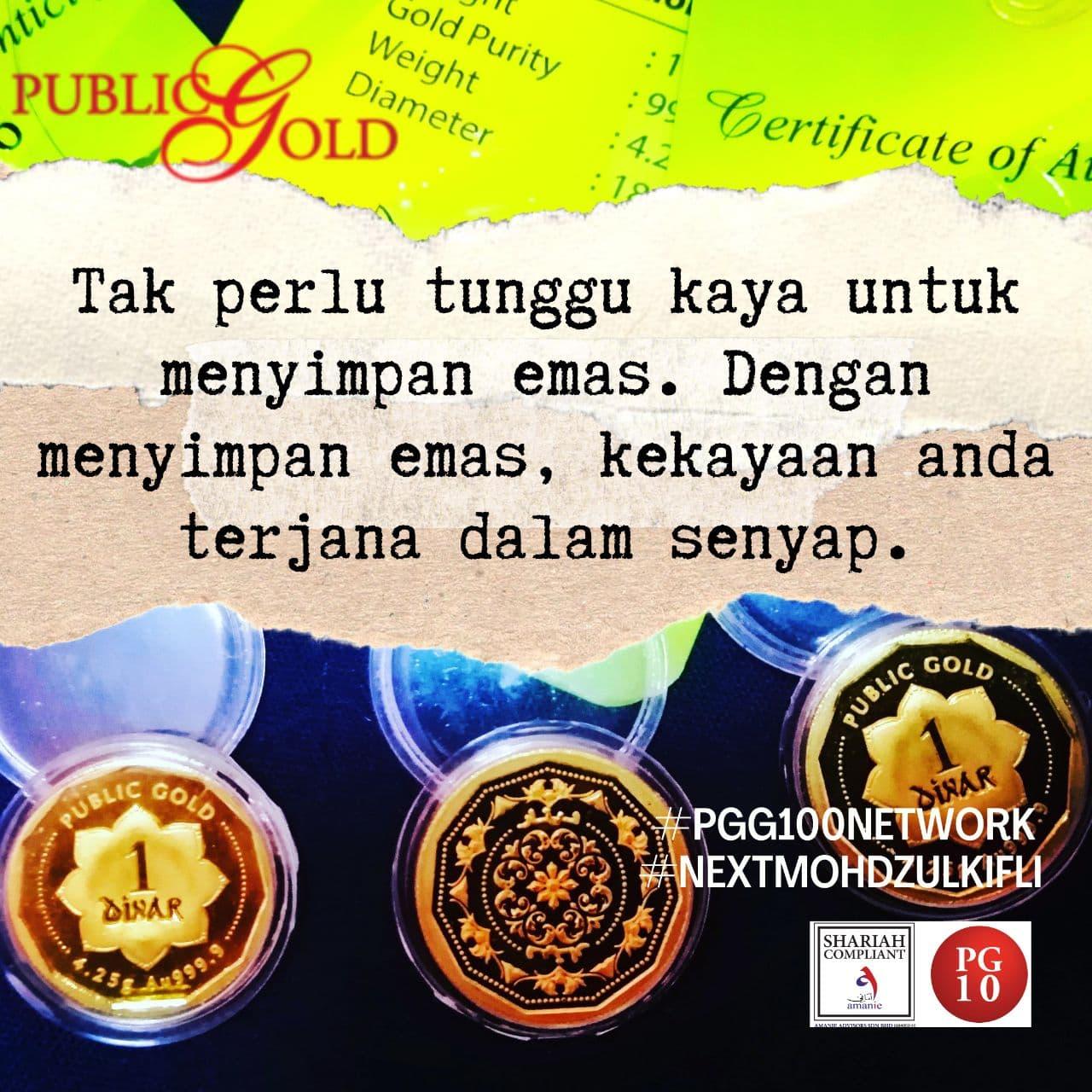 1 dinar emas