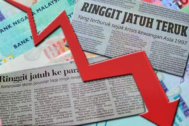 RINGGIT MALAYSIA JATUH 5% LAGI!!